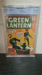 1961 DC GREEN LANTERN #9 1ST COVER & 2ND SINESTRO APP CBCS GRADED 4.0 KEY ISSUE