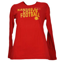 Kansas City Chiefs Womens Ladies Red Long Sleeve Tshirt Football Crew Neck
