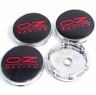 OZ Racing 4 x 60mm Schwarz Rot Chrome Alufelge Nabenkappen Nabendeckel
