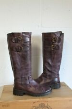PURPLE SOFT LEATHER BIKER BOOTS SIZE 5 / 38 USED CONDITION
