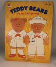 Teddy Bears My Very 1st Paper Doll Booklet Whitman 1967 Uncut