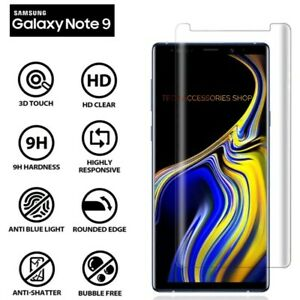For Samsung Galaxy Note 9 100% Genuine 5D Tempered Glass Screen Protector Clear