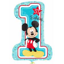 "Disney Mickey Mouse 1st Fun to Be One Birthday Party Foil Jumbo Balloon 28"""