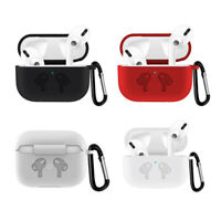 Protective Silicone Case Cover + Keychain for Apple Airpods PRO Charging case