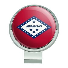 Arkansas State Flag Golf Hat Clip With Magnetic Ball Marker