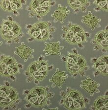 """TOMMY BAHAMA TRANQUIL TURTLE FOSSIL GRAY D4147 TORTOISE FABRIC BY YARD 54""""W"""