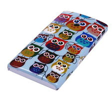 Hülle f Sony Xperia P LT22i Schutzhülle Tasche Case Cover Owl kleine Eule bunt