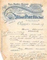 Ancienne lettre - Albert Piot fils à CHAUMONT