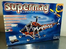 Supermag Magnetic Genius Helicopter 300 Pieces Vintage New