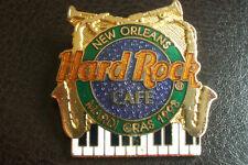HRC Hard Rock Cafe LA NOUVELLE ORLEANS Mardi Grass 1993 Logo le1000 saxophone piano