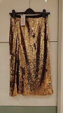 Stolen heart Gold Sequin Skirt Size 8 /XS