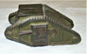 Antique Cast Iron US TANK BANK Circa 1919