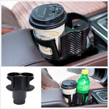 Twin Cup Drinks Bottle Holder For Car Truck Van Centre Console Storage Organiser