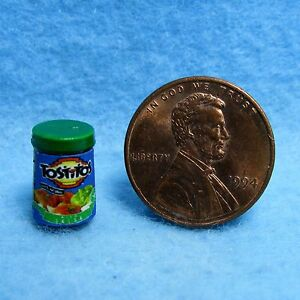 Dollhouse Miniature Replica Jar of Tostitos Salsa ~ HR54262