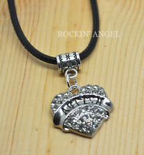 Autism Awareness Crystal Heart Pendant Necklace Ladies Girls Gift Family Love