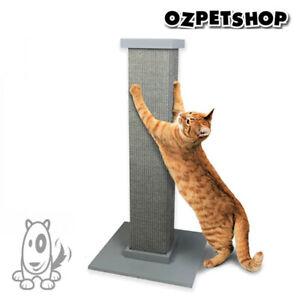 SmartCat Ultimate Scratching Post - Tall Sisal Cat Scratch Post - Grey