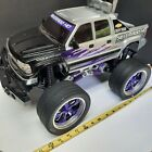 UNTESTED,2001 SILVER AND PURPLE Chevy Silerado HD 2500 RC TRUCK VERY RARE HUGE,