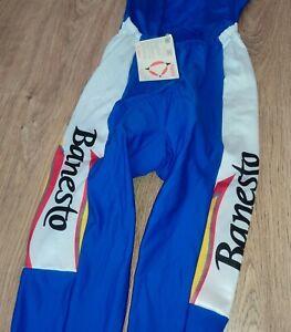 Banesto Nalini DEADSTOCK BNWT vintage padded cycling bib tights pants size 4 (L)
