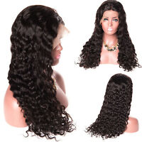 Pre Plucked 360 Lace Frontal Wigs Curly Brazilian Remy  Hair Wig For Women