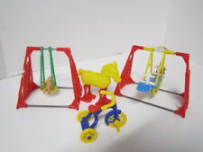 VINTAGE ACME DOLL HOUSE PLAYGROUND FURNITURE SWINGS & TRICYCLE