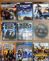9 Ps3 Games Rock Band Sports Champions Battlefield Complete Tested Guitar Hero