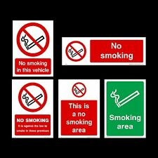 No Smoking / Designated Area Plastic Sign, Sticker - All Materials & Sizes