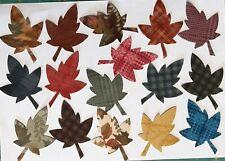 Petite Flannel Maple Leaves fabric Pack remnants patchwork bundle 100% cotton