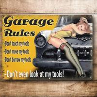 Funny Gift Idea Metal Garage Door Wall Sign Plaque Stocking FIller For men him