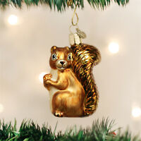 Squirrel Glass Ornament