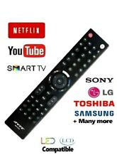 Universal Remote TV Control LG Sony Toshiba Samsung + Smart TV 3D LCD LED HD TV