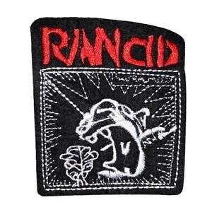 RANCID IRON ON SEW ON EMBROIDERED PATCH BADG  PUNK ROCK MUSIC BANDS