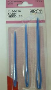 PLASTIC YARN NEEDLE Set of 3 - Use for Chunky/Novelty Yarn