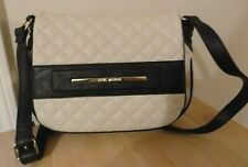 Steve Madden Crossbody Handbag Purse Bag Designer Authentic Cream & Black NEW