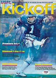 Herschel Walker Signed 1983 USFL Football Game Program PSA/DNA Premiere Issue