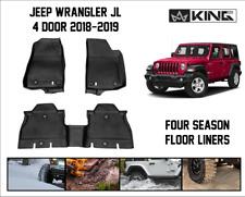 four-Season full set Floor Mat Liners 18-19 JLU FOR Jeep Wrangler Unlimited