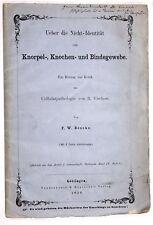 Beneke, Kritik der Cellularpathologie von Virchow 1858 Widmungsexemplar