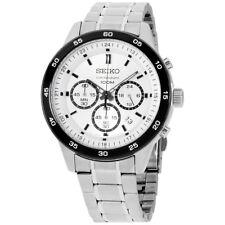 Seiko Chronograph Black Dial Stainless Steel Men's Watch SKS531