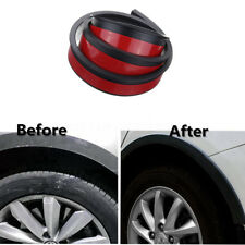 One Pair Black Rubber 3.8cm/1.5M Car Fender Flare Extension Wheel Eyebrow Trims