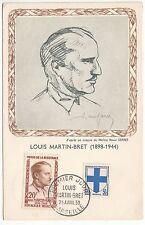 CARTE MAXIMUM TIMBRE FRANCE N° 1201 LOUIS MARTIN BRET
