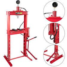 20T Presse Hydraulique d'Atelier sur Colonne avec Pompe à Pédale et Manomètre