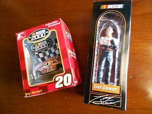 Tony Stewart NASCAR Collectible Christmas Ornaments Home Depot #20 & Figurine NI