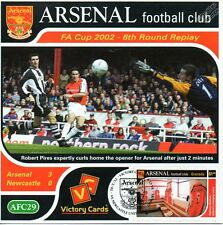 Arsenal 2001-02 Newcastle United (Robert Pires) Football Stamp Victory Card #129