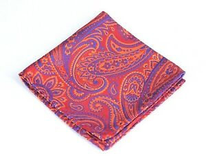 Lord R Colton Masterworks Pocket Square - Carnivale Red Silk - $75 Retail New
