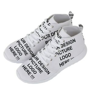 Personalized Custom Your Design Photo Men's Lightweight High Top Sneakers Shoes
