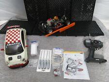 1:10 Verbrenner Tamiya Fiat Abarth 500 LED Funke Werkzeug Motorblock 4WD Nitro