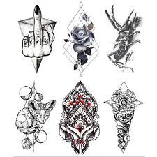 Women Men Rock Flower Animal Transfer Temporary Tattoo Body BACK Arm Stickers