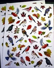 New Autumn Birds & Leaves 98 Stickers Acid Lignin Free Scrapbook Cards