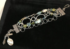 "Silver And Gemstone "" Bead Chic"" Bracelet-7"""