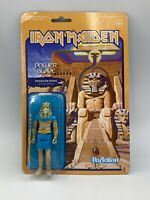 Reaction Figures Iron Maiden Power Slave Pharaoh Eddie Mascot Figure 3 3/4 Inch