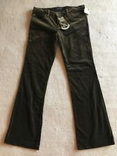 $185 Juicy Couture Jeans Women's Moss Velvet Suede Cotton Pants Size 30 NEW #B2